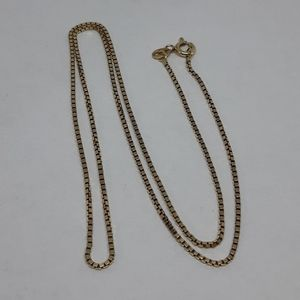 10K Solid Yellow Gold Box Chain